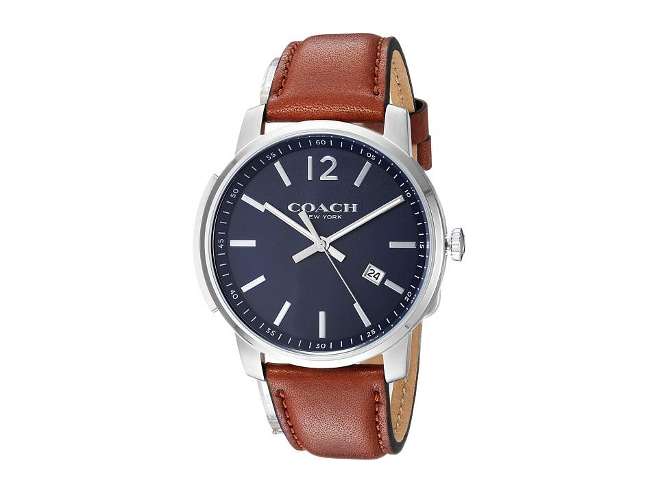 COACH - Bleecker Slim Leather (Matte Navy) Watches