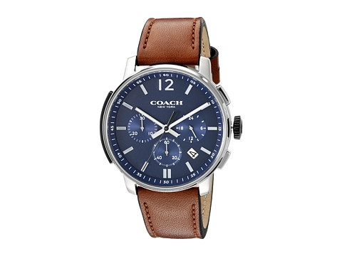COACH Bleecker Chrono Leather - Matte Navy