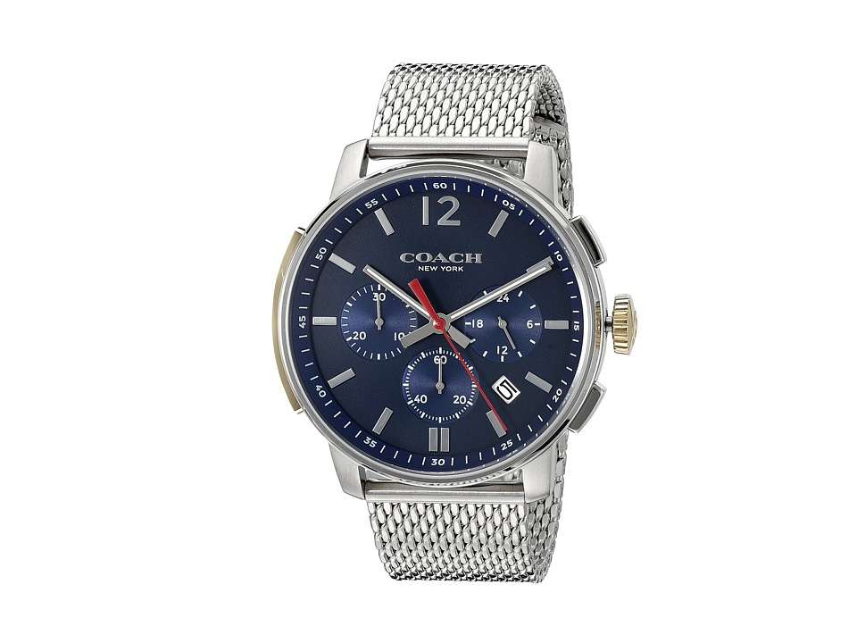 COACH - Bleecker Chrono Mesh (Matte Navy) Watches