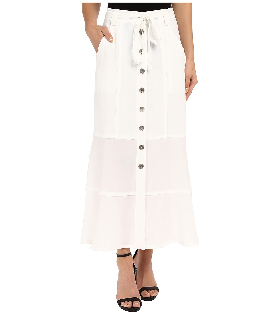 Nanette Lepore Pocket Front Skirt White Womens Skirt