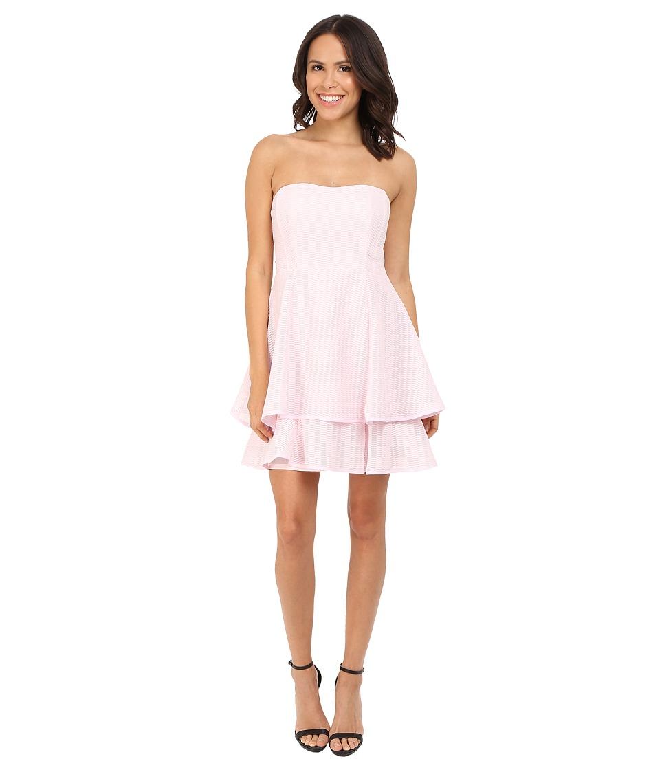 Nanette Lepore Tie Back Tier Dress Pearl Pink Womens Dress