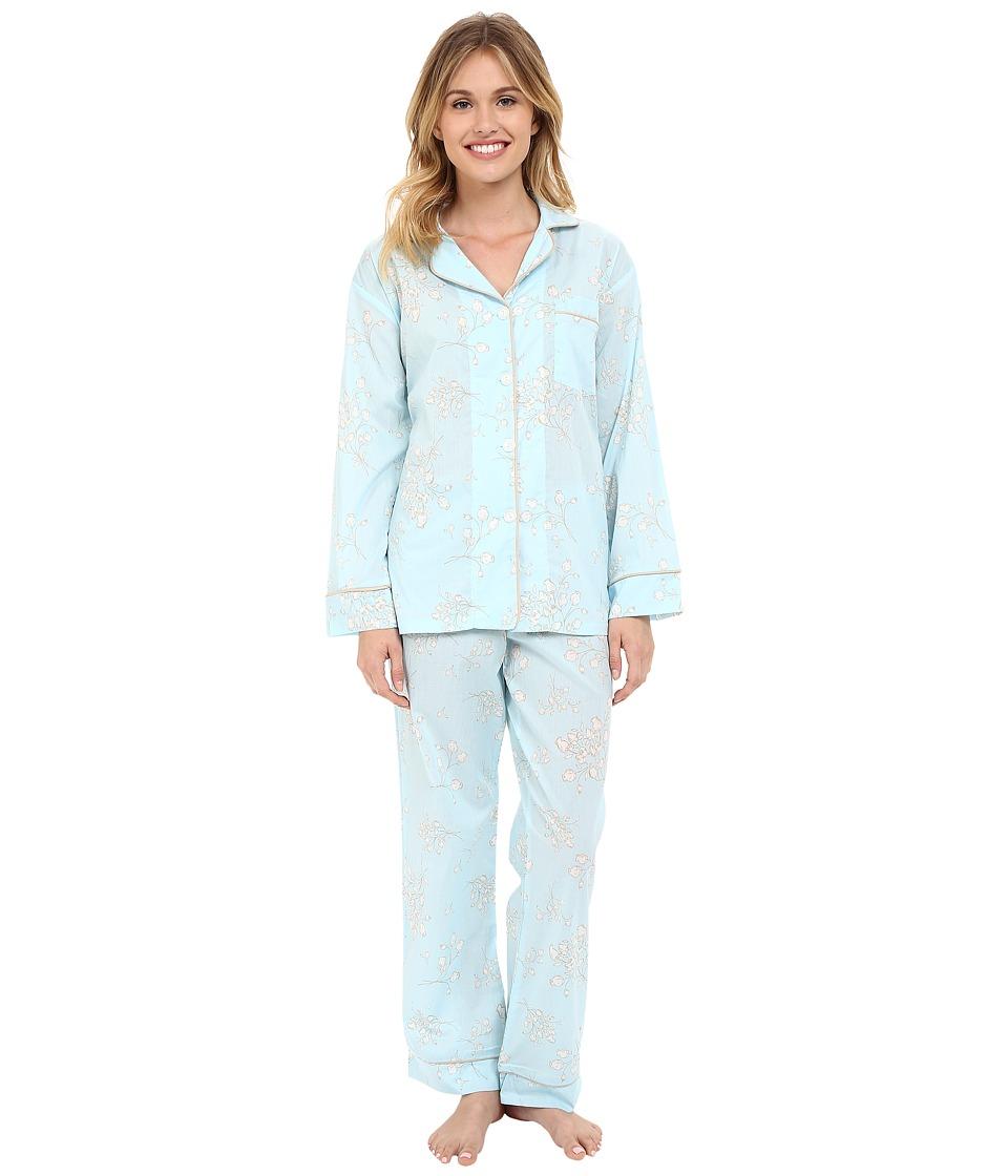 BedHead Classic Pajamas Voile Blue Flower Bouquet Womens Pajama Sets
