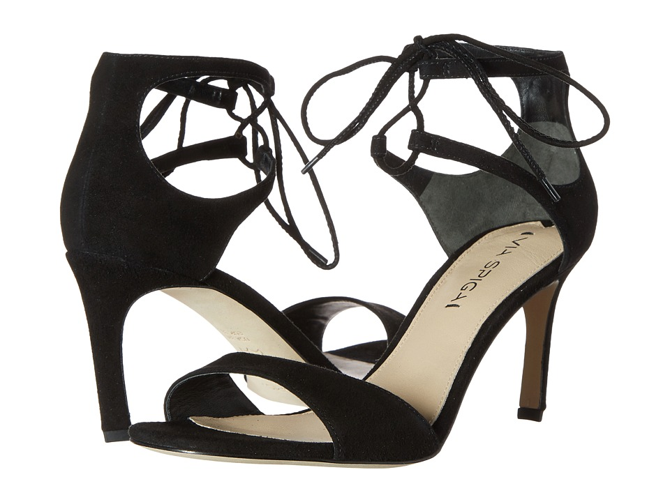 Via Spiga - Skylar (Black Kid Suede Leather) High Heels