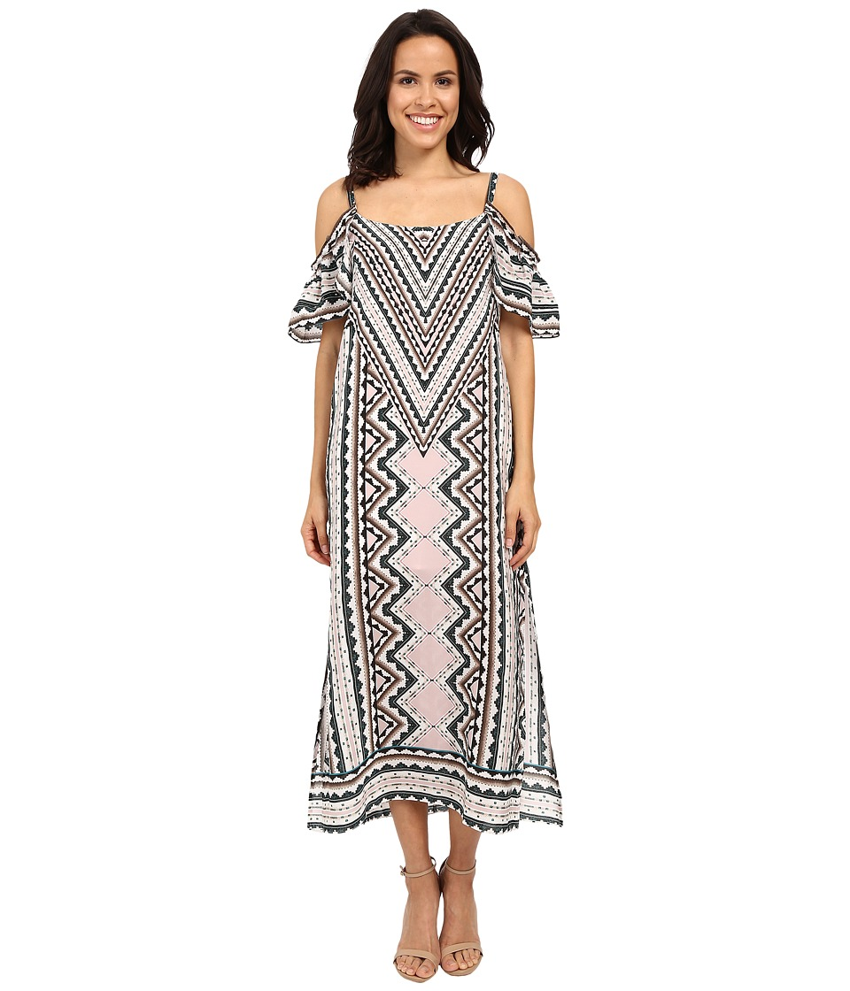 Nanette Lepore Havana Nights Maxi Dress Natural Multi Womens Dress