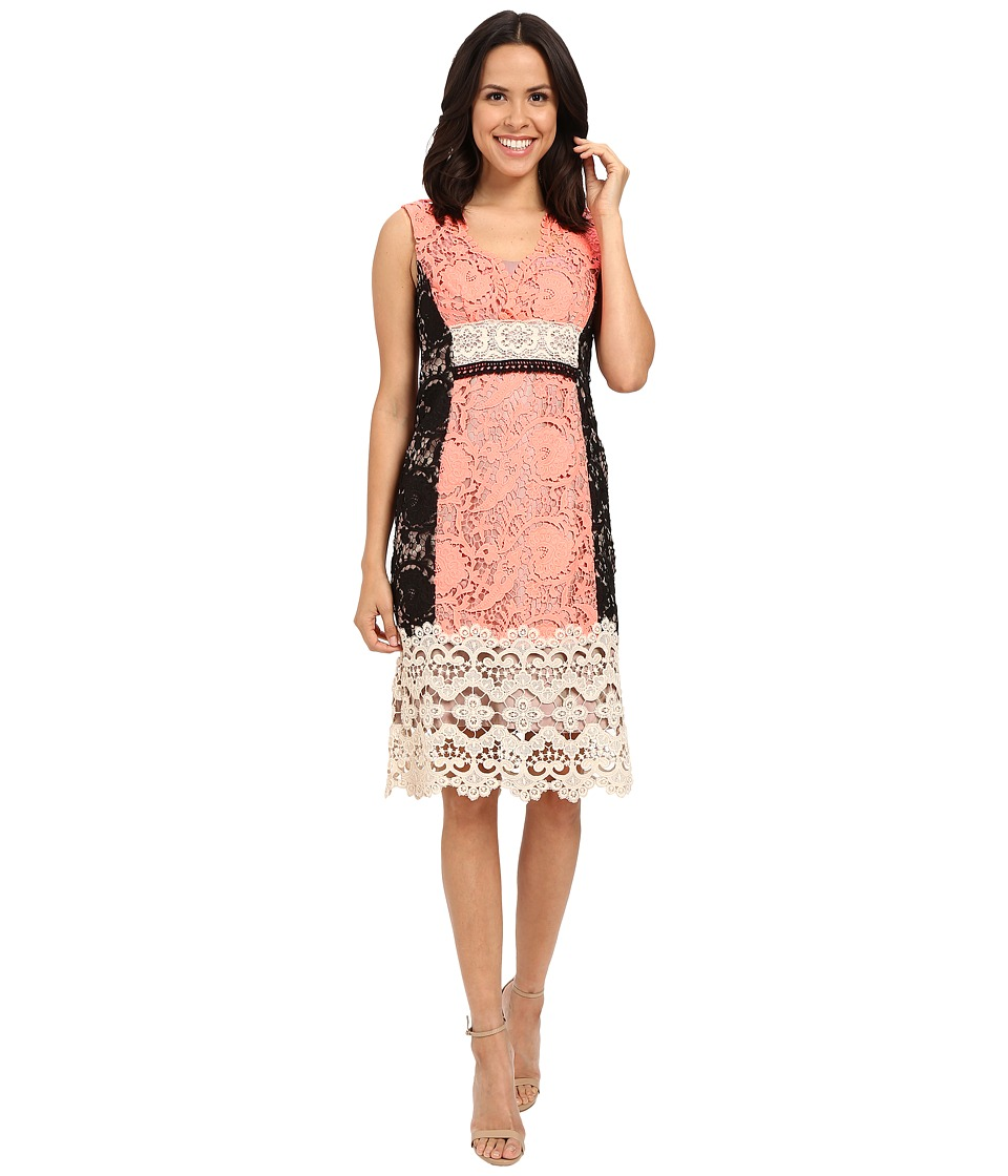 Nanette Lepore Daquiri Lace Dress Tangerine Multi Womens Dress