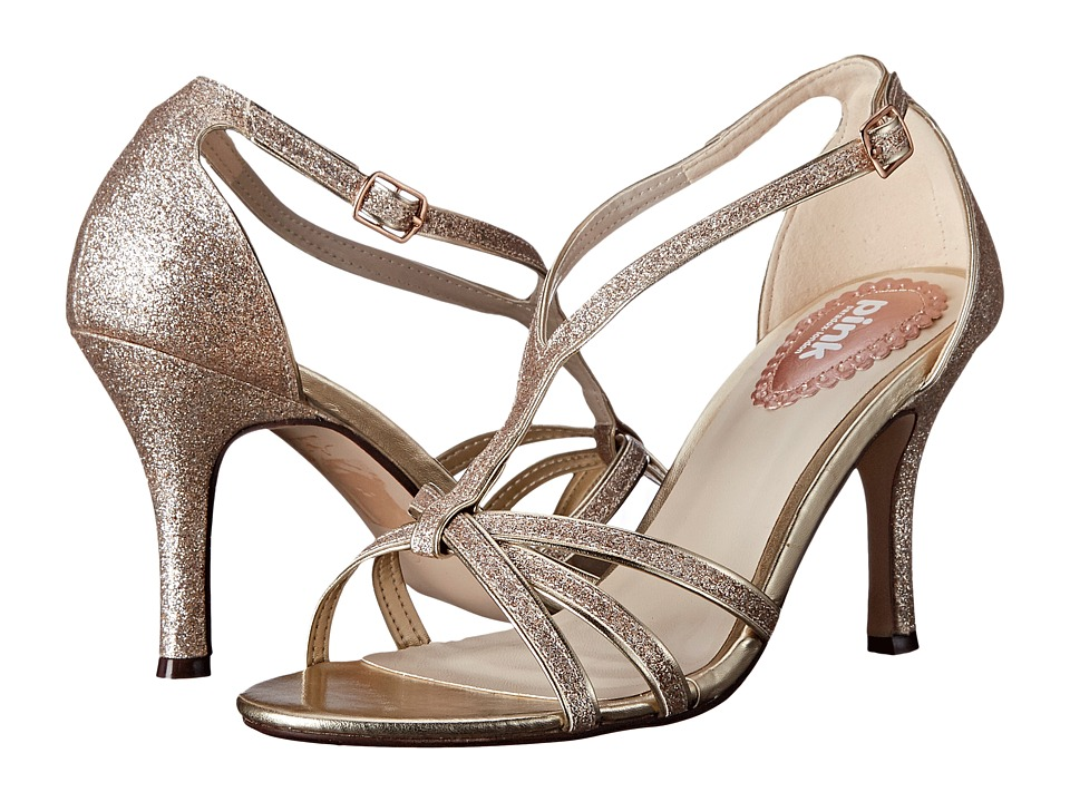 Paradox London Pink Vibrant Champagne Glitter Womens Shoes