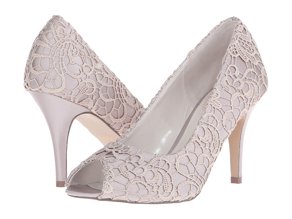Paradox London Pink Cosmos Taupe Satin/Lace Womens Shoes