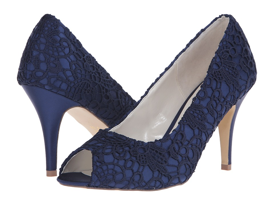 Paradox London Pink Cosmos Navy Satin/Lace Womens Shoes