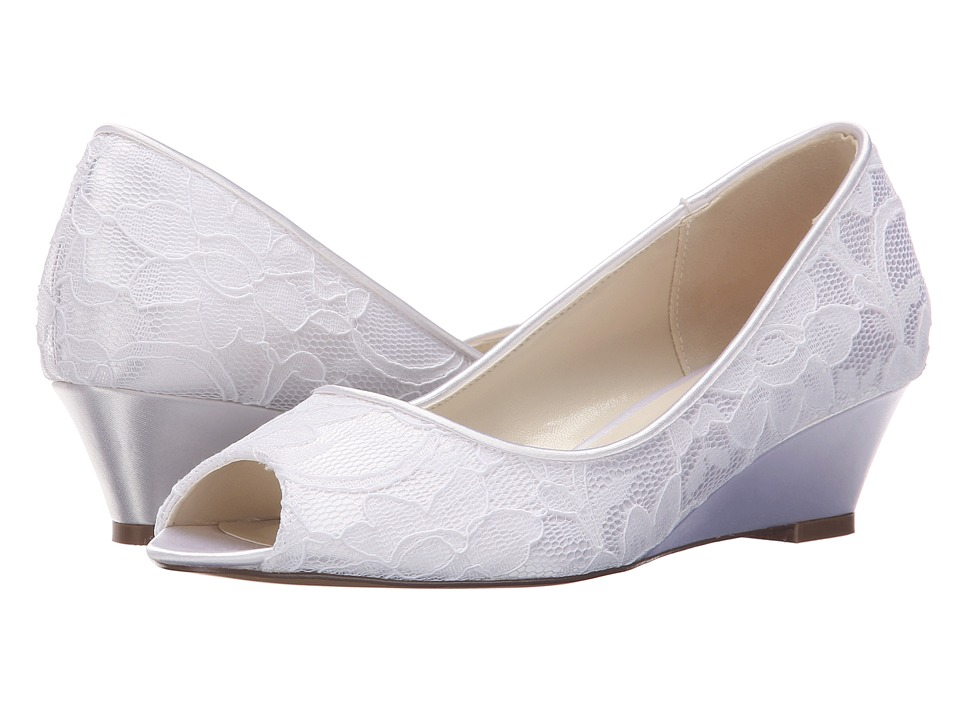 Paradox London Pink Vera White Dyeable Satin/Lace Womens Shoes