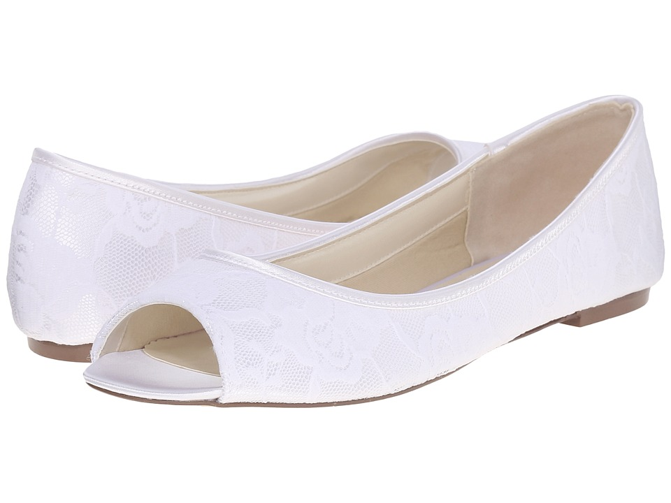 Paradox London Pink Water Lilly White Dyeable Satin/Lace Womens Shoes