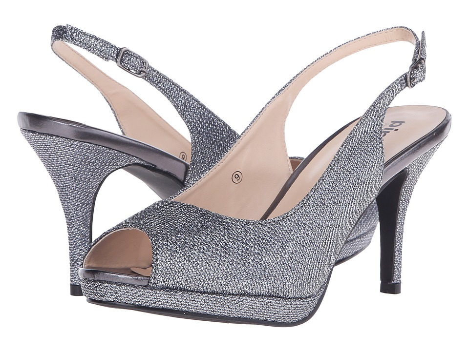 Paradox London Pink Fiesta Pewter Glitter Mesh Womens Shoes