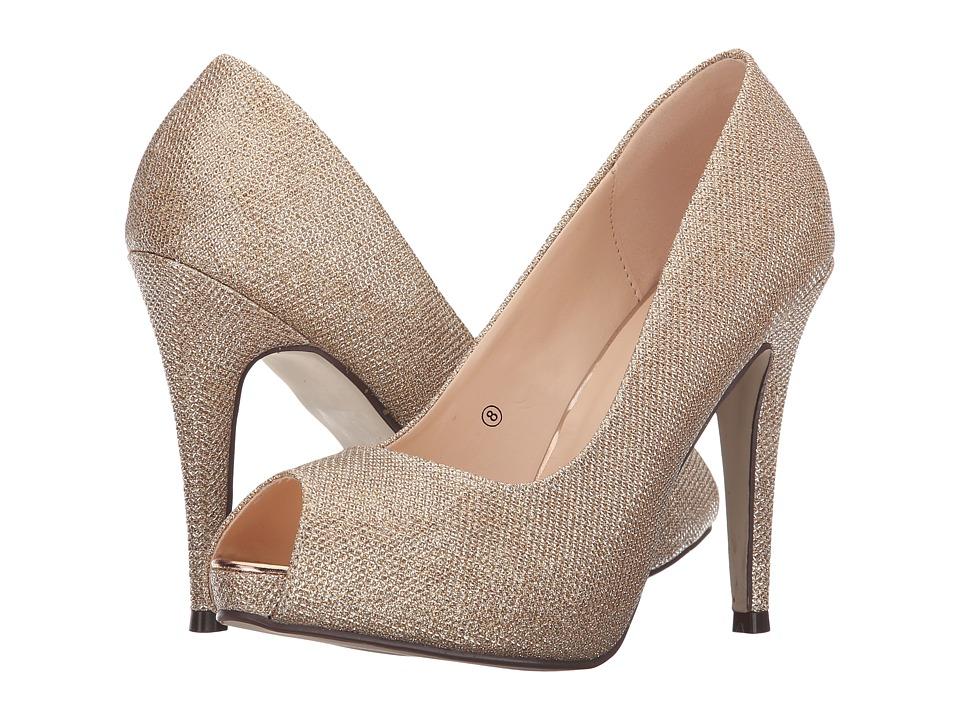 Paradox London Pink Yummy Champagne Glitter Mesh Womens Shoes