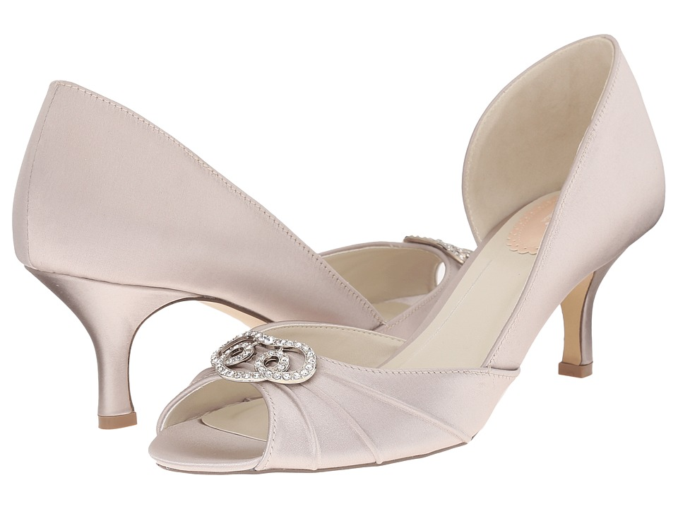 Paradox London Pink Amelia Taupe Satin Womens Shoes