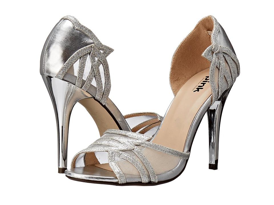 Paradox London Pink Lara Silver Metallic/Glitter Womens Shoes