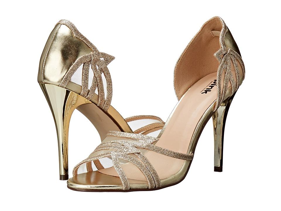 Paradox London Pink Lara Gold Metallic/Glitter Womens Shoes