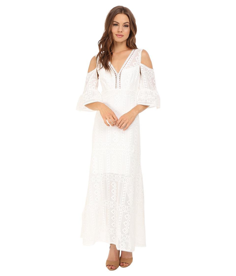 Nanette Lepore Merengue Maxi Dress Ivory Womens Dress