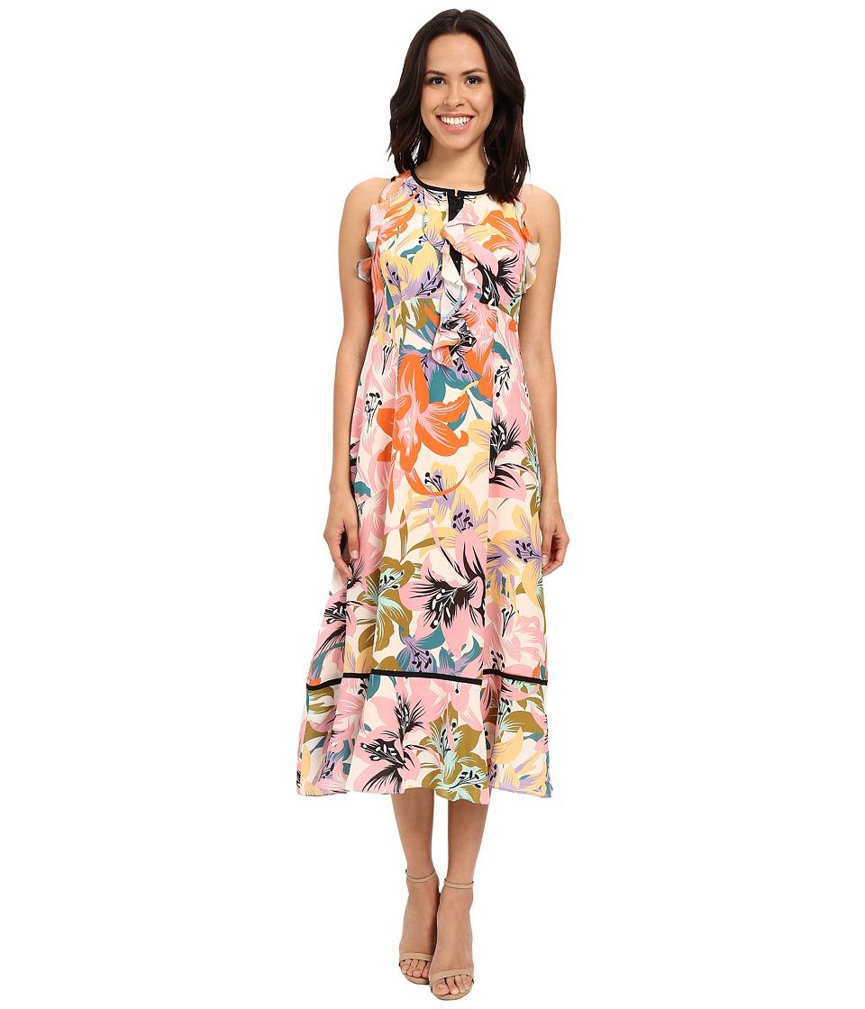 Nanette Lepore Una Vez Mas Dress Tangerine Multi Womens Dress