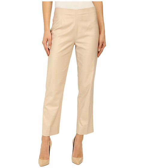 NIC+ZOE Perfect Side Zip Ankle Length Pants Fawn