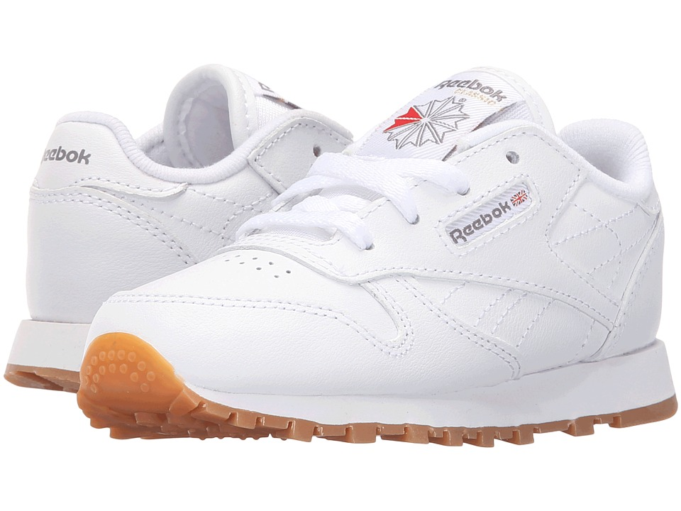 Reebok Kids - Classic Leather Gum (Infant/Toddler) (White/Gum) Kids Shoes