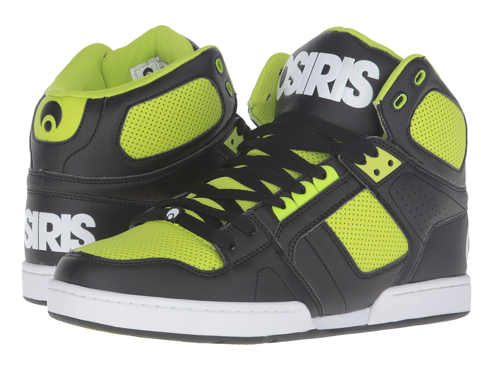 Osiris NYC83 (Black/White/Lime) Men