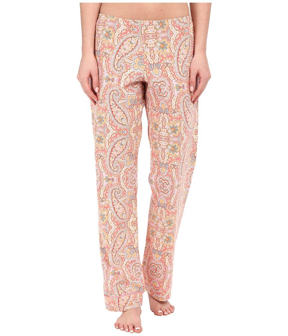 BedHead Classic Pants Coral Boho Paisley Womens Pajama