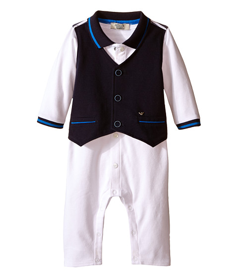 Armani Junior One-Piece with Navy Vest (Infant)