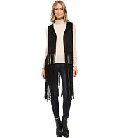 Steve Madden - Faux Suede Cropped Vest with Long Fringe