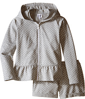 Armani Junior - Hooded Short Sweatsuit with Print White Hearts (Toddler/Little Kids/Big Kids)