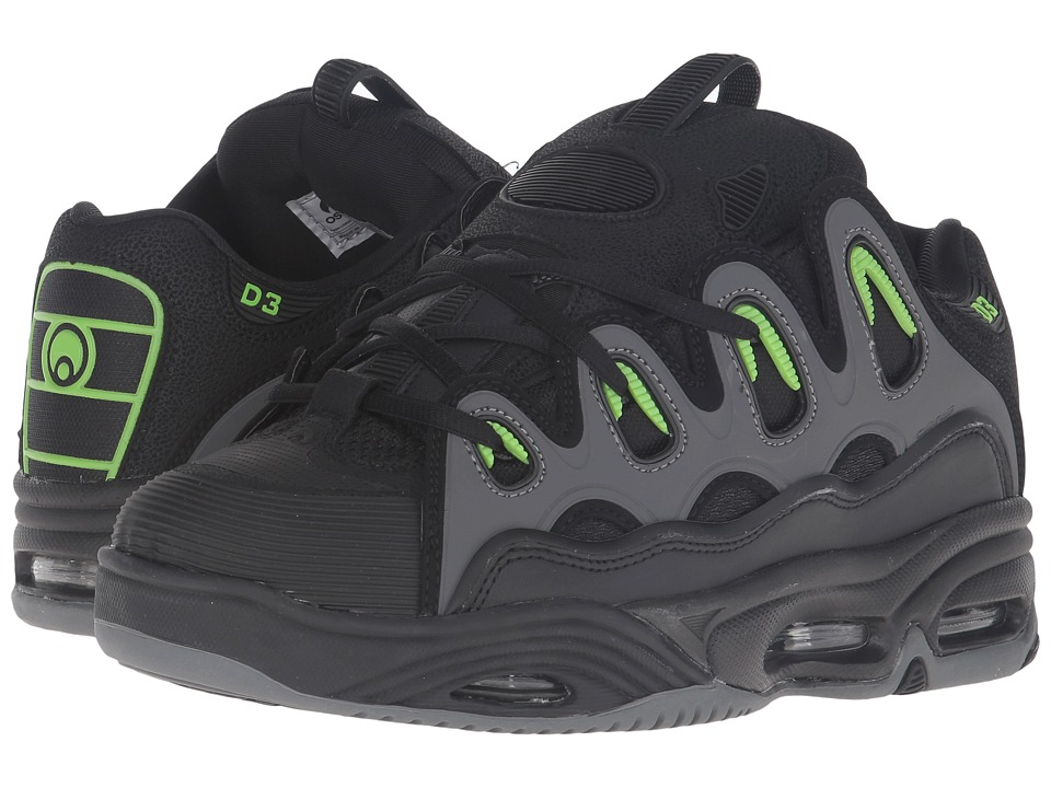 Osiris D3 2001 (Black/Green/Charcoal) Men