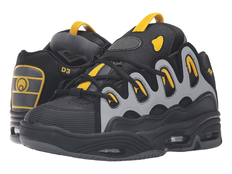 Osiris D3 2001 (Black/Yellow/Charcoal) Men