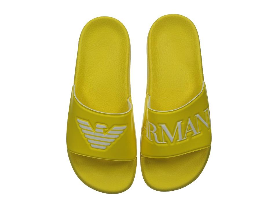Armani Junior Slip On Sandal with Logo Little Kid/Big Kid Sun Boys Shoes