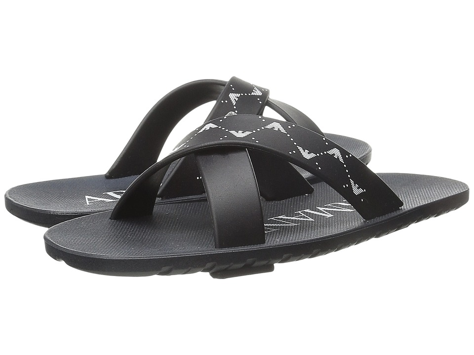 Armani Junior Cross Front Slip On Little Kid/Big Kid Indigo Boys Shoes