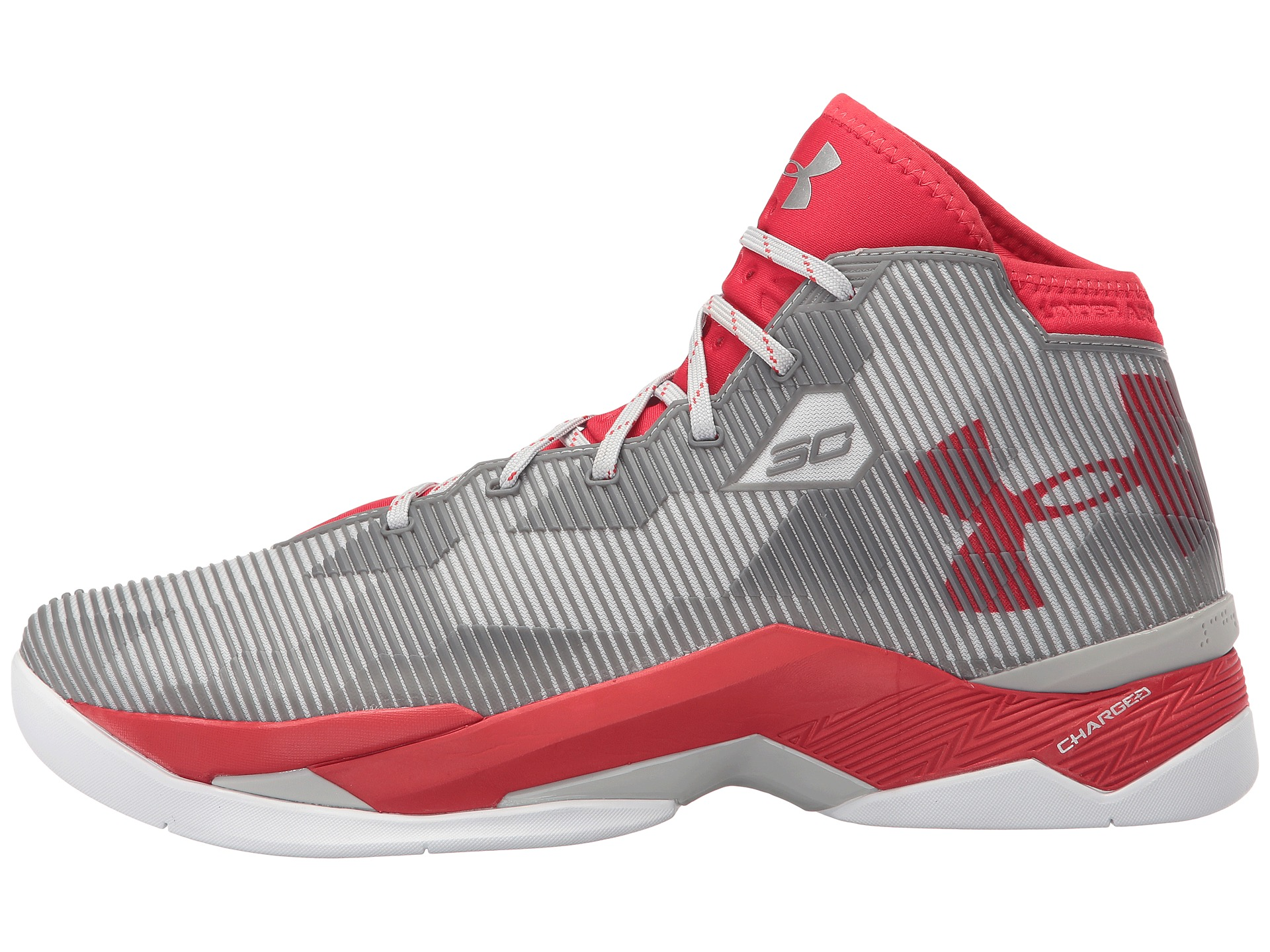Under Armour UA Curry 2 5 Red Aluminum Red Zappos