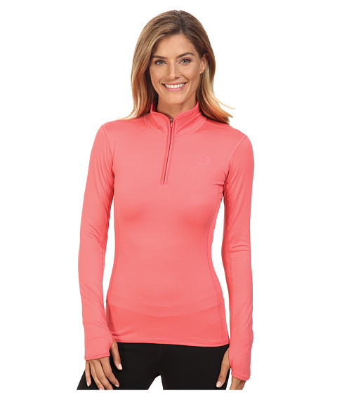 The North Face Motivation 1/4 Zip Pullover - Calypso Coral