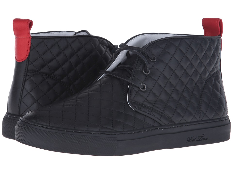 Del Toro - High Top Chukka Sneaker (Black Quilted) Men's ...