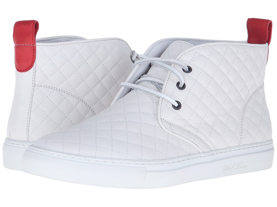 Del Toro - High Top Chukka Sneaker (White Quilted) Men's ...