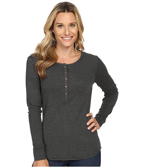 Royal Robbins - Kick Back Henley (Dark Grey Heather) Women's Long Sleeve Pullover