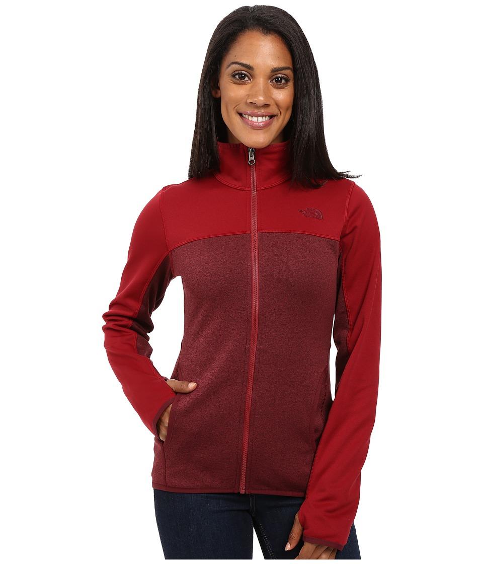 The North Face Amazie Mays Full Zip (Deep Garnet Red Dark Heather/Biking Red (Prior Season)) Women