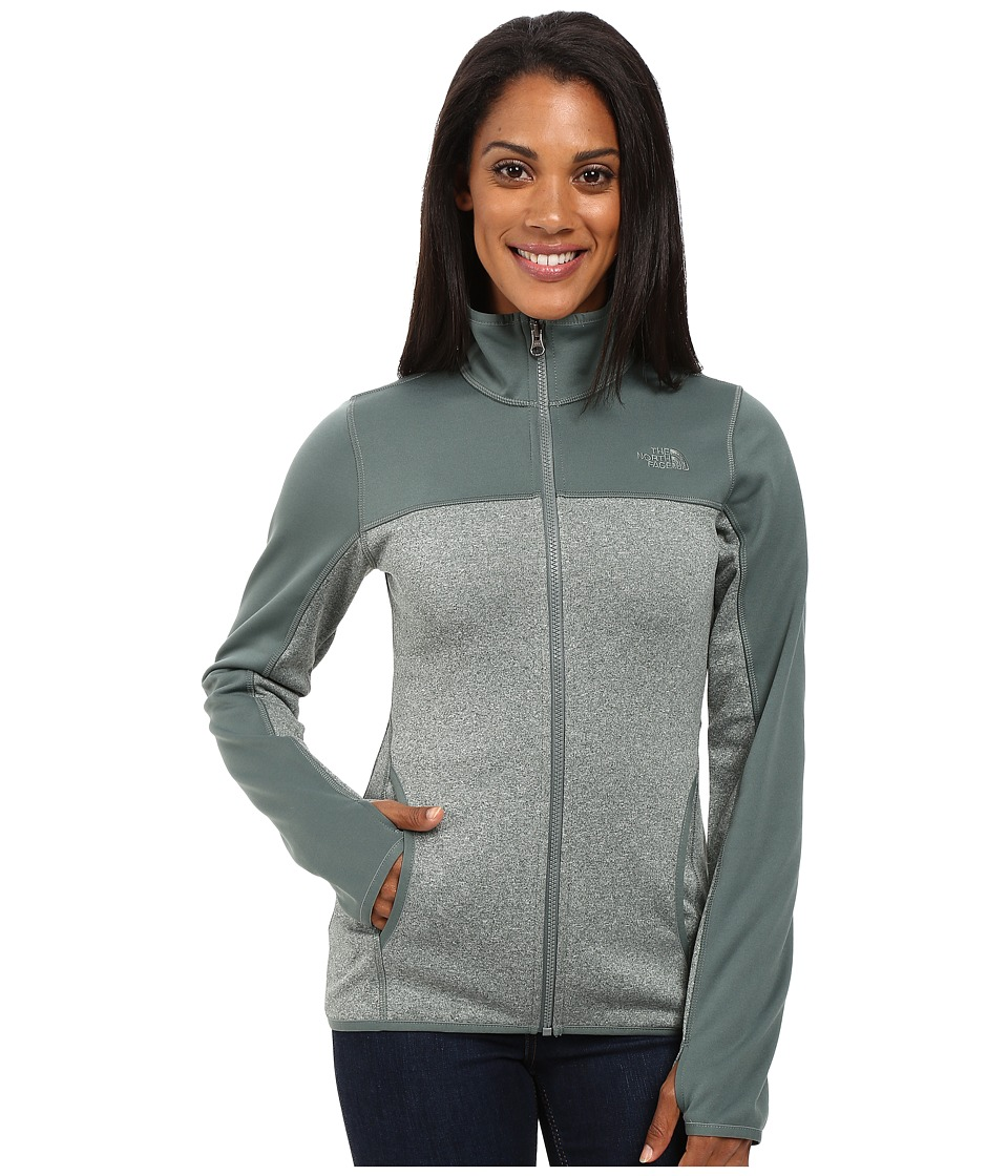The North Face Amazie Mays Full Zip (Balsam Green Light Heather/Balsam Green (Prior Season)) Women