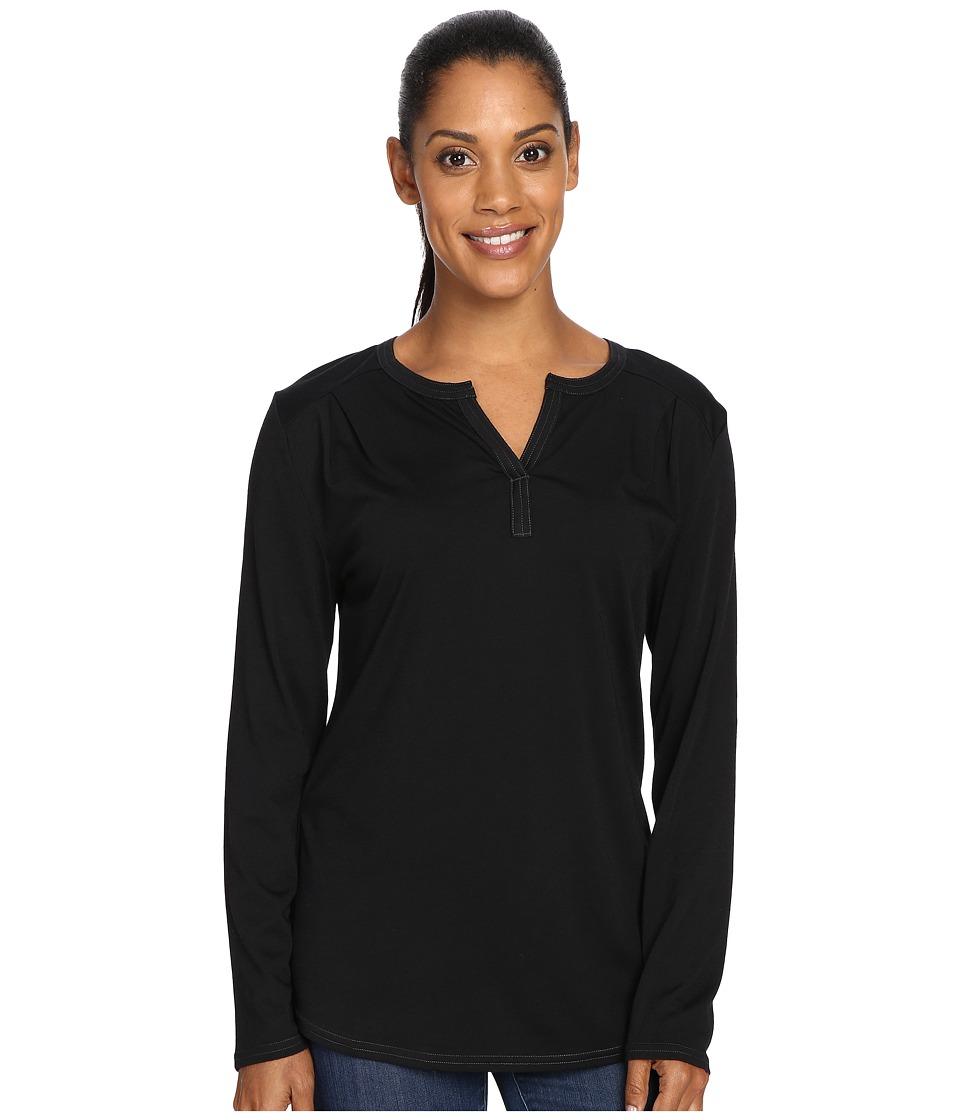 Royal Robbins - Go Everywhere(r) Henley (Jet Black) Womens Long Sleeve Pullover