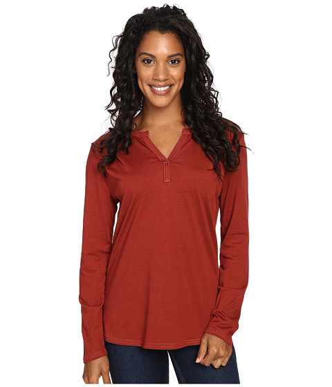 Royal Robbins - Go Everywhere Henley (Ruby) Women's Long Sleeve Pullover