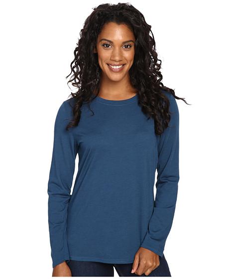 Royal Robbins - Go Everywhere Merino Crew (Phoenix Blue) Women's Long Sleeve Pullover