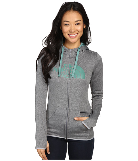 The North Face Fave Half Dome Full Zip Hoodie - TNF Medium Grey Heather/Deep Sea