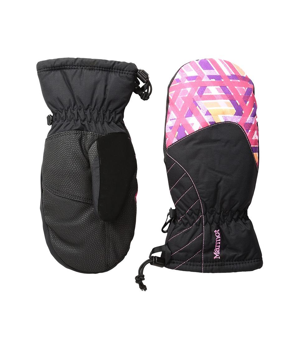 Marmot Kids Glade Mitt (Little Kids/Big Kids) (Pink Lotus Geo) Extreme Cold Weather Gloves