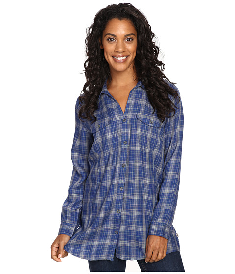 Royal Robbins - Beechwood Wool Blend Long Sleeve (Twilight Blue) Women's Long Sleeve Button Up