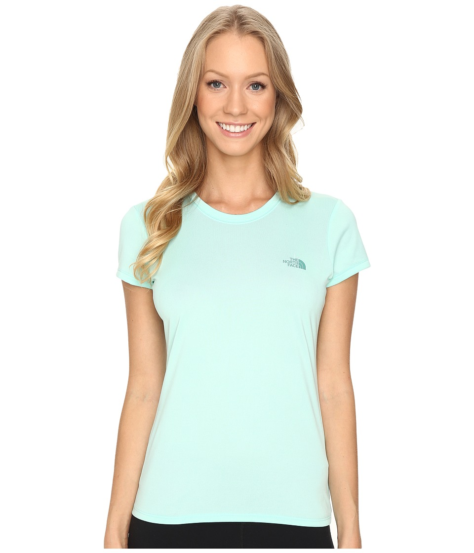 The North Face Short Sleeve Reaxion Amp Tee (Ice Green/Deep Sea) Women