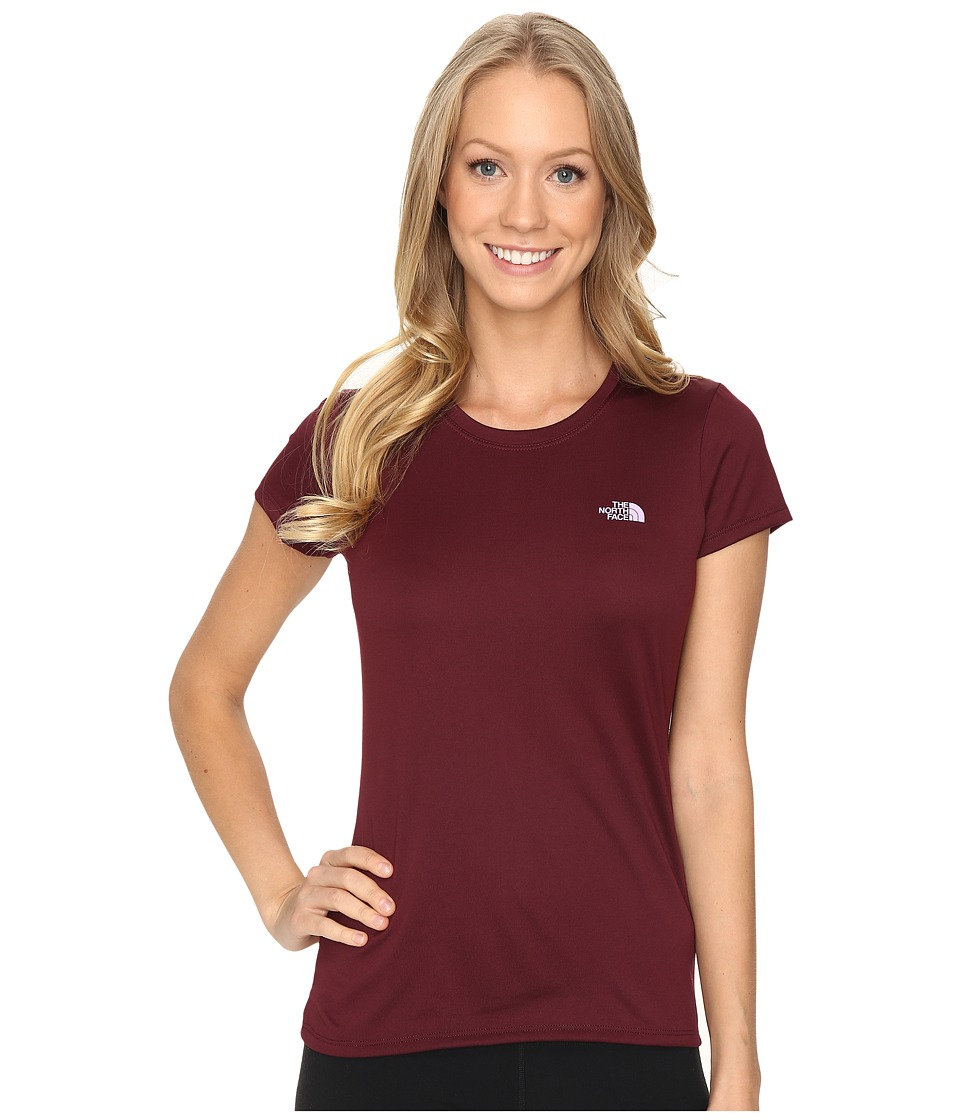 The North Face - Short Sleeve Reaxion Amp Tee (Deep Garnet Red/Lupine) Women
