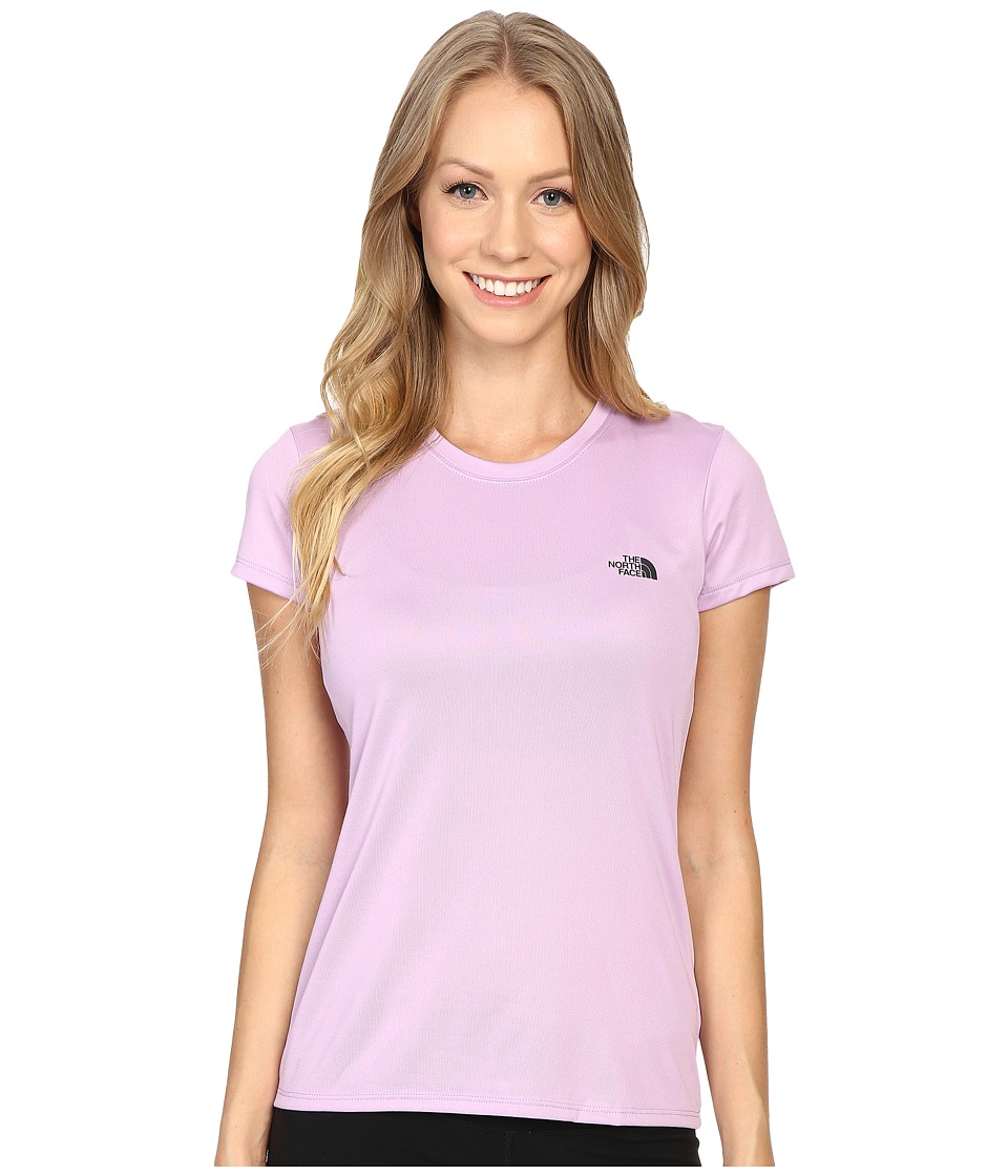 The North Face Short Sleeve Reaxion Amp Tee (Lupine/Asphalt Grey) Women