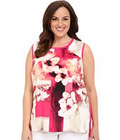 Calvin Klein Plus - Plus Size Sleeveless Print Woven Front Shell