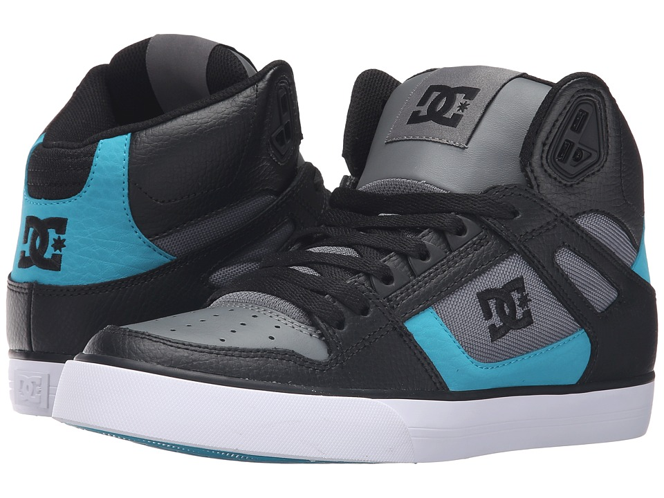 DC - Spartan High WC (Black/Armor/Turquoise) Mens Shoes